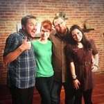 Me and @wilw and @NikaHarper on the set of Tabletop!  Oh and another guest. #someguy