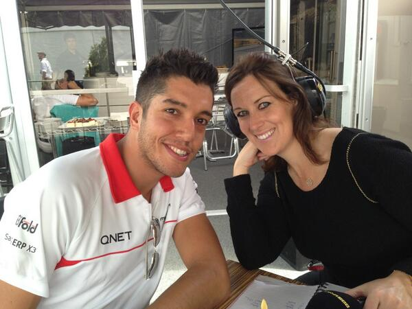 RT @RSpeedyGonzalez: Chilling with @LeeMcKenzieF1 before the GP! @Marussia_F1Team http://t.co/CLWYuJLDAy