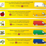 Here revealing 'Test your FOOD MILEAGE'  answers.How many of them did you guess it right?