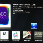Apple Events Channel Appears on Apple TV, Will Stream WWDC 2013 Keynote Live http://t.co/T1l69GWDq7