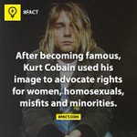After becoming famous, Kurt Cobain used his image to advocate rights for women, homosexuals, misfits and minorities. http://t.co/Ec2SLyYdO2