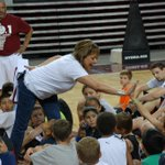 Gov. Martinez stopped by coach @MarvinMenzies Little Aggie camp to talk about her Nothing but Net reading program http://t.co/IXmRTy32sn