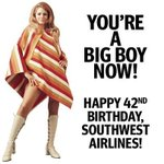 Tomorrow is our 42nd birthday! If you are flying tomorrow, you can help us celebrate and enjoy a free drink! Cheers! http://t.co/2dj85rgR10