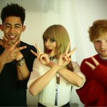 21, 23, 22. So on average, 22. @RizzleKicks @edsheeran backstage in London.