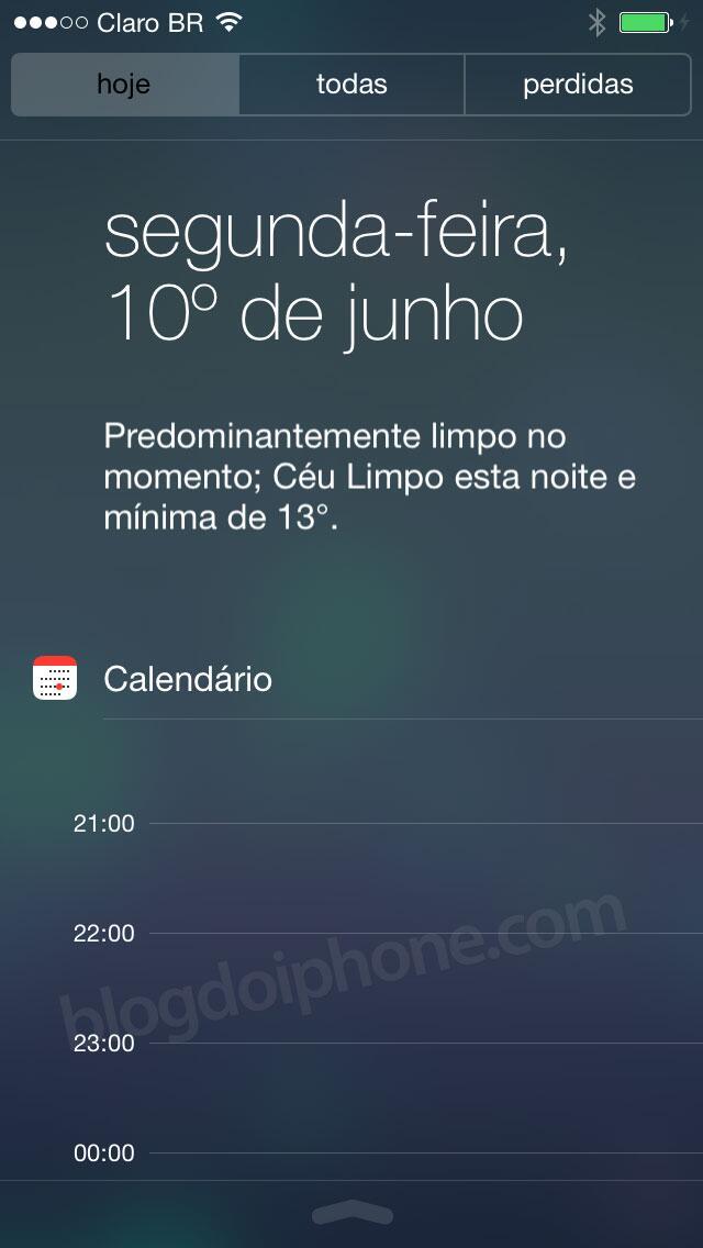 [iOS7] Central de Notificações, que funcionará também na tela bloqueada: http://t.co/ld4jqU6RuJ