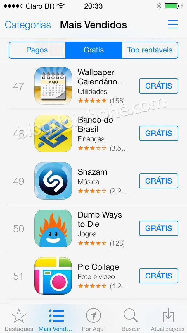[iOS7] Novo visual da App Store: http://t.co/XDvWT86iiW