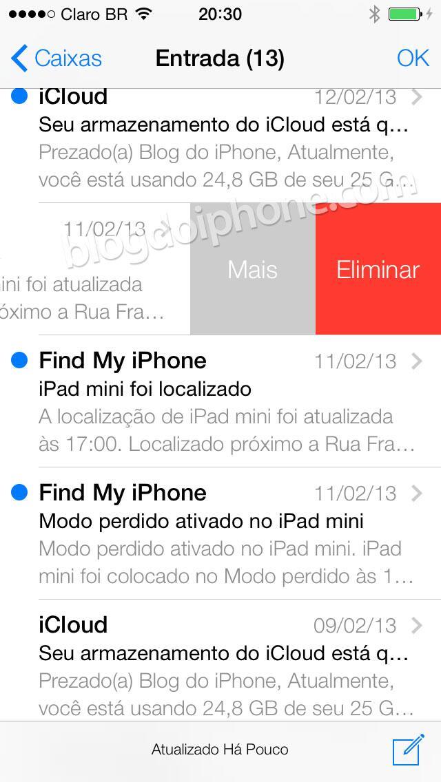 [iOS7] Novo Mail, com novos gestos: http://t.co/Ko0XjHTtlq