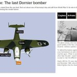 RT @BBCNews: The last #Dornier bomber - now raised from the sea bed - in 3D http://t.co/nHmbb7B47A