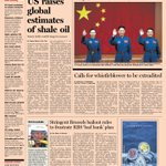 Here's a sneak peek at the front page of the UK Financial Times - 11 June 2013
