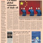 Here's a sneak peek at the front page of the US Financial Times - 11 June 2013