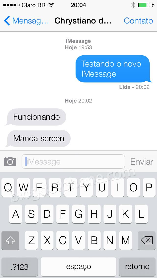 [iOS7] Novo iMessage: http://t.co/3EOqK6fyUm