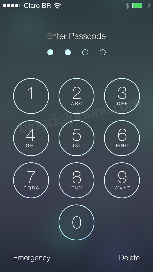 [iOS7] Tela da senha: http://t.co/Pi8DNqt2VI