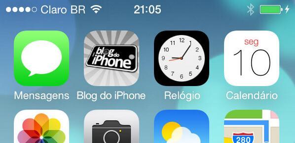 [iOS7] O ícone do relógio mostra a hora atual: http://t.co/1TyD87OWE7