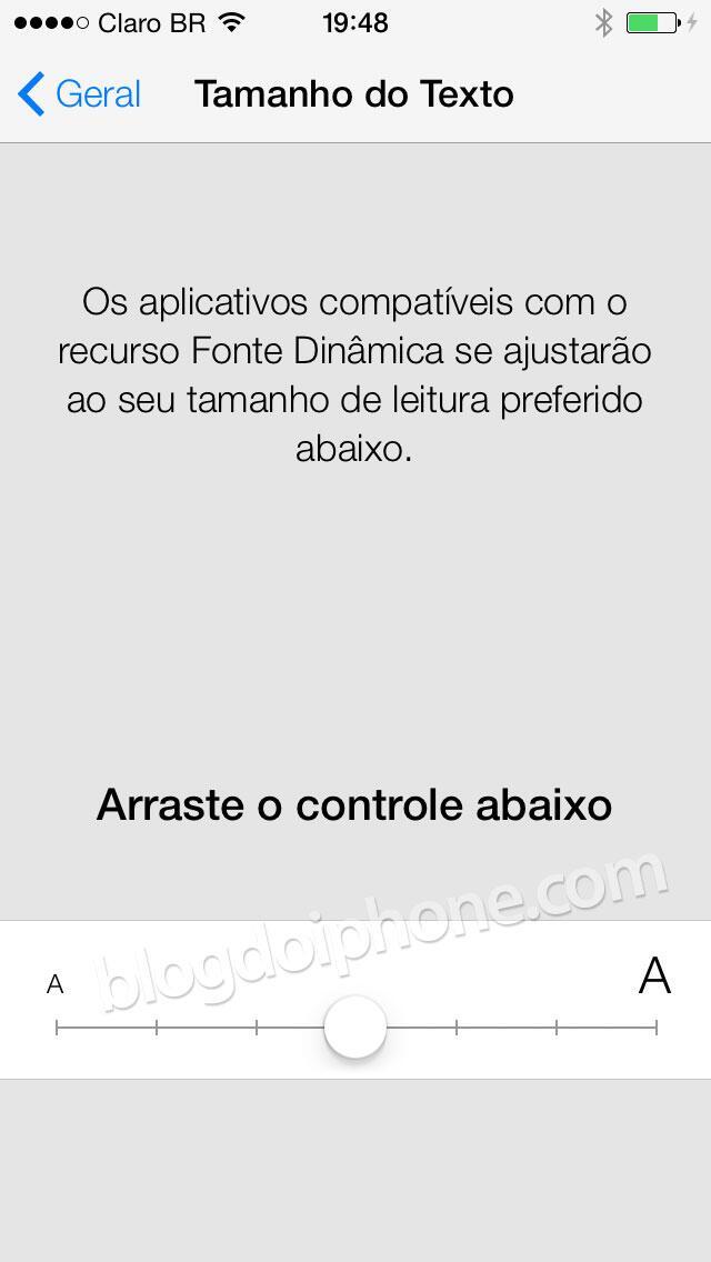 [iOS7] Fonte dinâmica (não vai funcionar no iPhone 4): http://t.co/BiTjL0bVeS