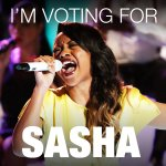 RT @NBCTheVoice: Ok #TeamShakira, RETWEET if you're voting for @SashaAllenMusic! #VoiceTop5