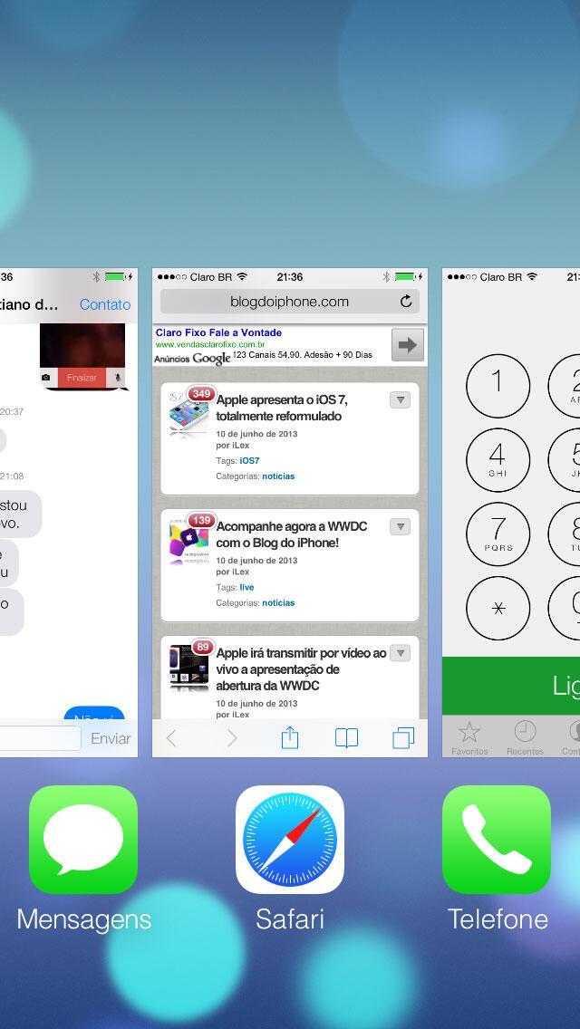 [iOS7] Barra Multitarefa deixou de ser barra: http://t.co/GcVasj6Thb