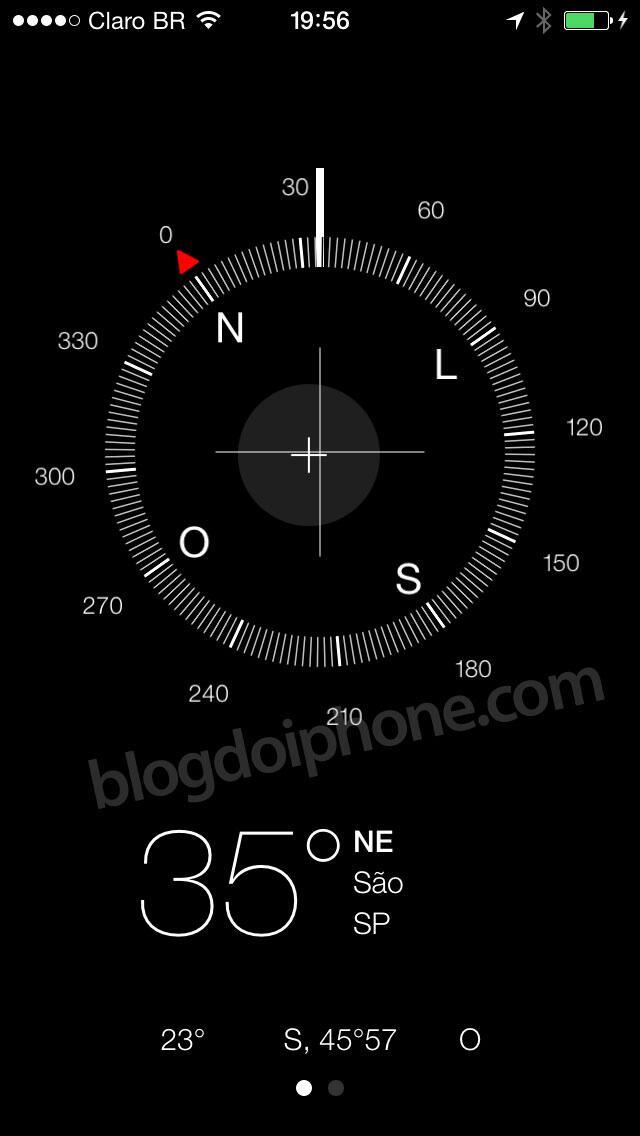 [iOS7] Nova bússola: http://t.co/NH7DSmwUFe