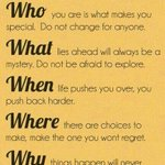 The Five W's Of Life:
