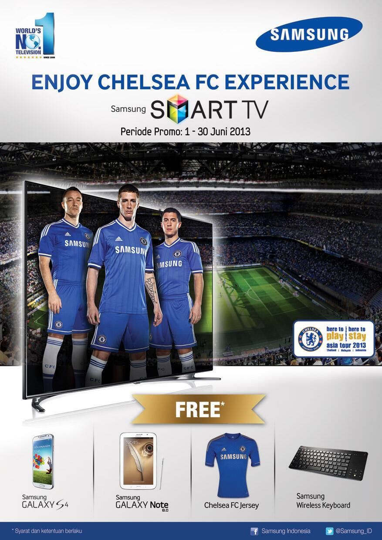 RT @Samsung_ID: Nikmati pertandingan Chelsea FC bersama Samsung Smart TV! Berhadiah Samsung Galaxy S4, Jersey Chelsea FC! http://t.co/uP40j…