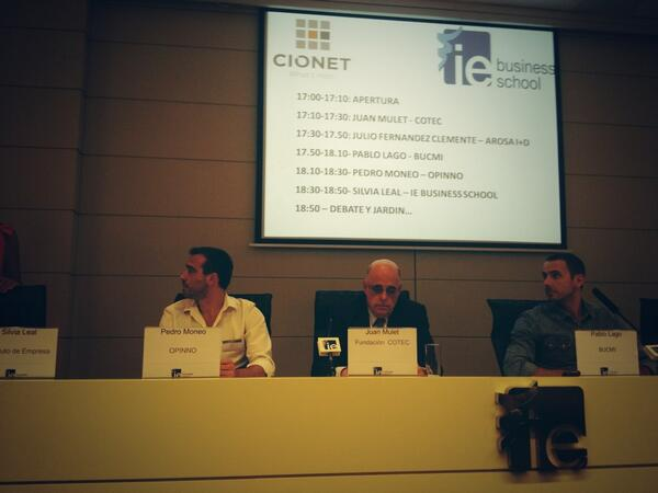 RT @tcanonici: @pedromoneo y @opinno partecipando en #innocio organizado por CIONET y @IEbusiness ! http://t.co/k6GIInTDmU