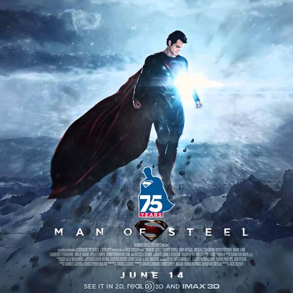 Happy 75th birthday, #Superman! His birthday present? A reboot: @ManofSteelMovie opens tomorrow in Korea! http://t.co/TjOPomsHLw