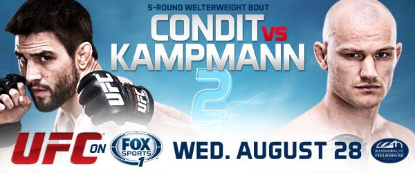 UFC on @FoxSports1: Condit vs Kampmann 2 tickets available NOW for @ufcfightclub members! http://t.co/lw8lXupIpR  http://t.co/XAZeh3YplC
