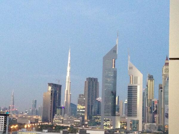 What a view this morning! Hello #Dubai http://t.co/qMPmuY6rQb