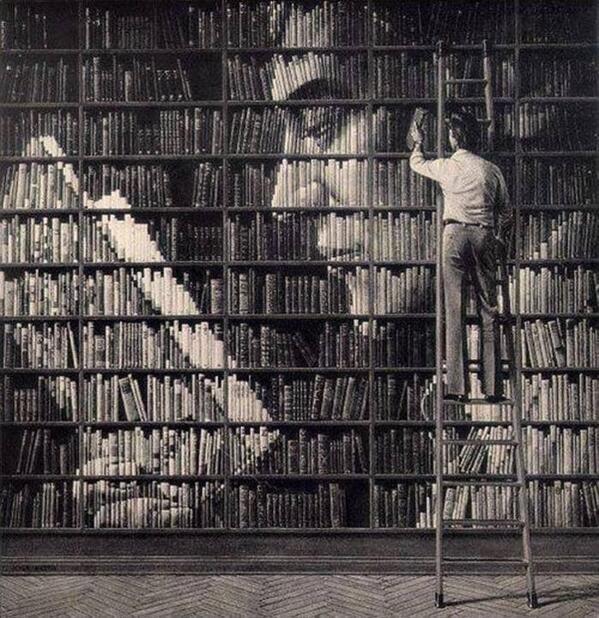 RT @MonCoursPhoto: L'art de ranger ses livres ;-) #bibliothèque http://t.co/iFjmypOmVP