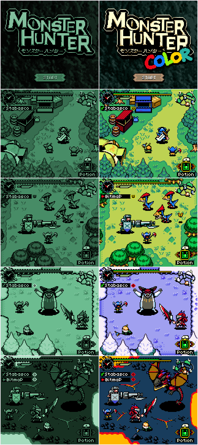 In case you missed it here is my Monster Hunter Gameboy Demake... http://t.co/dlctG88QXp