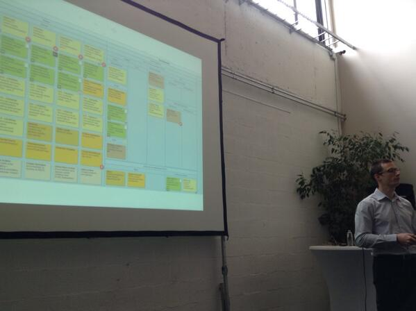 Tim Pijpops (@tpijpops): We do like @LeanKit boards at #cegeka #dare13 http://t.co/C9sZlJR8Js