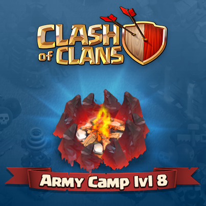 Chief, get ready to lead more troops into battle!!! Level 8 Army Camp coming soon! :D http://t.co/waWJDic8nM