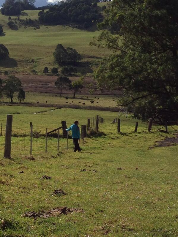 Daughter looking at vista. #tweetedfarmwalk @zoerose22 @LynDavey http://t.co/kFz4yZMLah
