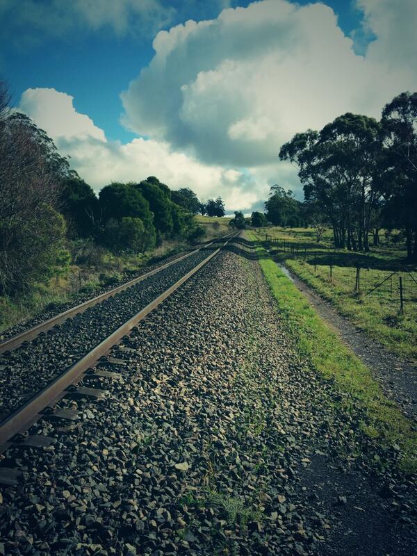 Rail track #tweetedfarmwalk @zoerose22 @LynDavey http://t.co/NhJSUw2XSG