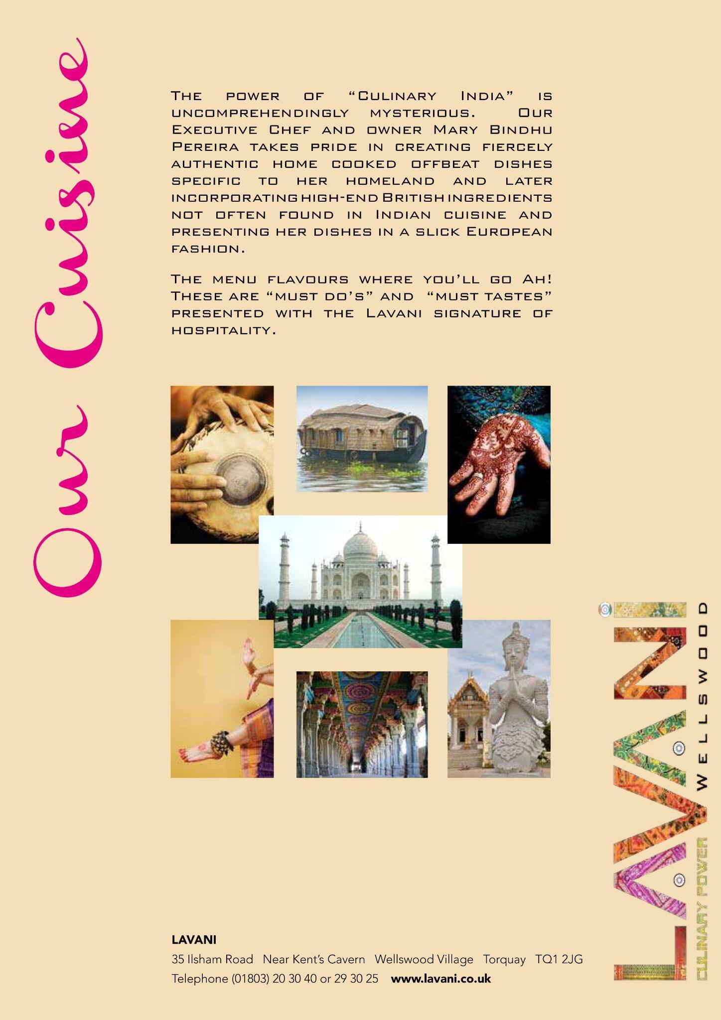 Lavani Menu-Our Cuisine-Our Passion! http://t.co/h5NDvLs84G