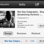 #Download Our @Caligraphy215 #New #Single, #SheSayCaligraphy on #Itunes NOW! #Support! http://t.co/UkyqLKQvhD http://t.co/4A1nd8KkBa