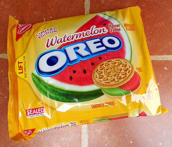#WatermelonOreos - because it's summer & because people will buy anything once. http://t.co/21CDrpGAPW
