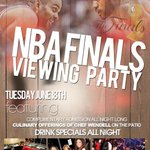 "Tonight WE @ #SUGARHILL 2533 SOUTHMORE ""Game 6"" NBA FINALS Viewing Party DOORS OPEN @ 5 NO COVER > http://t.co/8ziVni2alu"