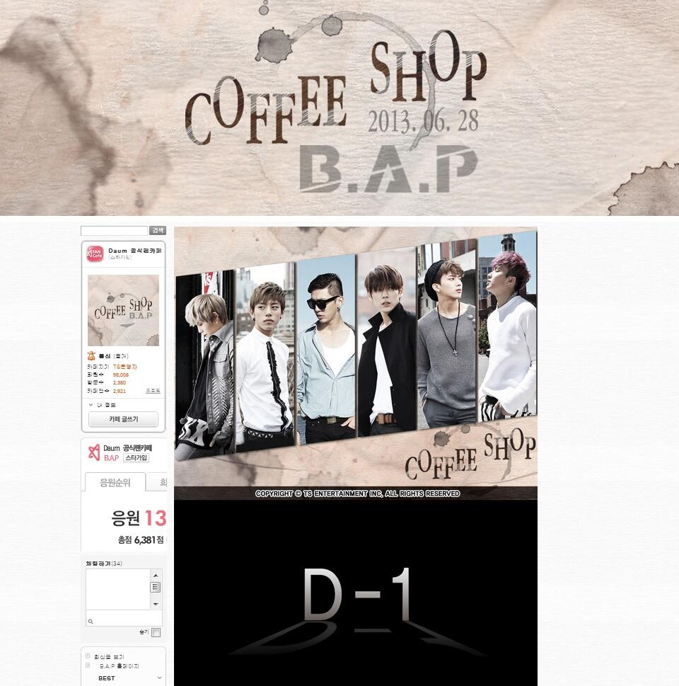[UPDATE] 130618 B.A.P's fancafe header has changed: http://t.co/oYBBzJIyTM