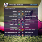 RT @premierleague: The Barclays Premier League opening day fixtures... #BPLkickoff http://t.co/rK7XzwYv8Y