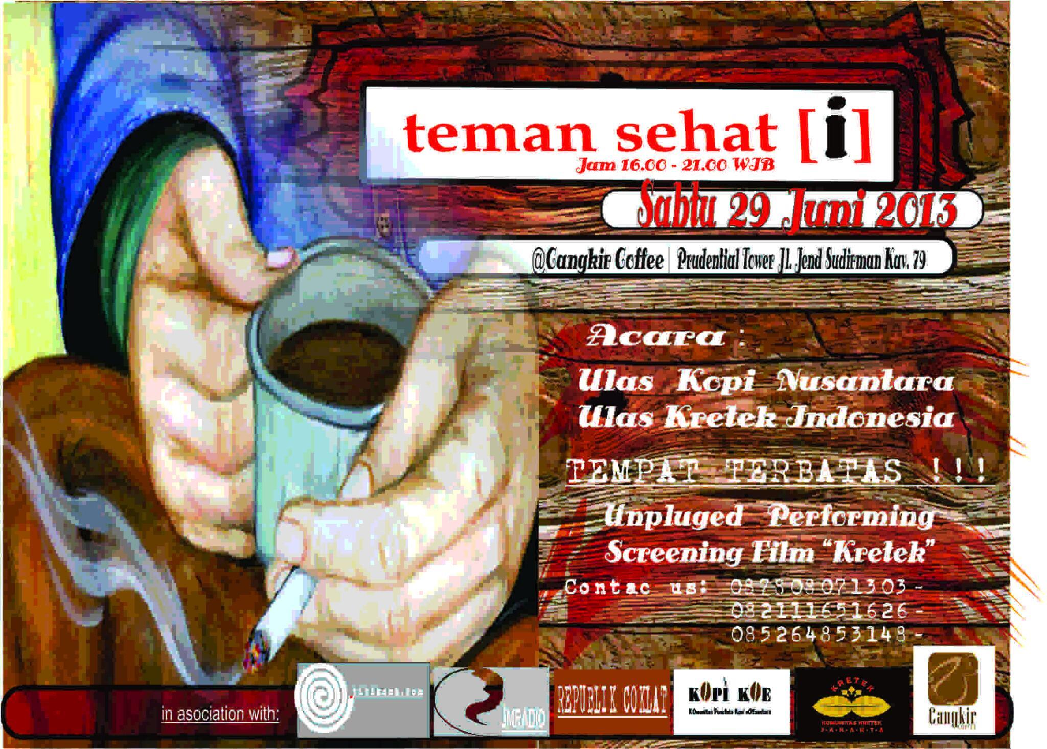 acara workshop dan gathering bareng pecinta kopi dan kretek,29-06-2013,@KomunitasKretek http://t.co/vUZIT1d5ne