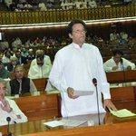 RT @ISFPakistan: @ImranKhanPTI at the National Assembly taking the oath #PTI http://t.co/FnWigO4Cqc