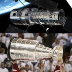 RT @neiltyson: Hockey in Orbit:  Is it just me, or does the @NHL Stanley Cup look like the Hubble Space Telescope? http://t.co/gNHIH20whR
