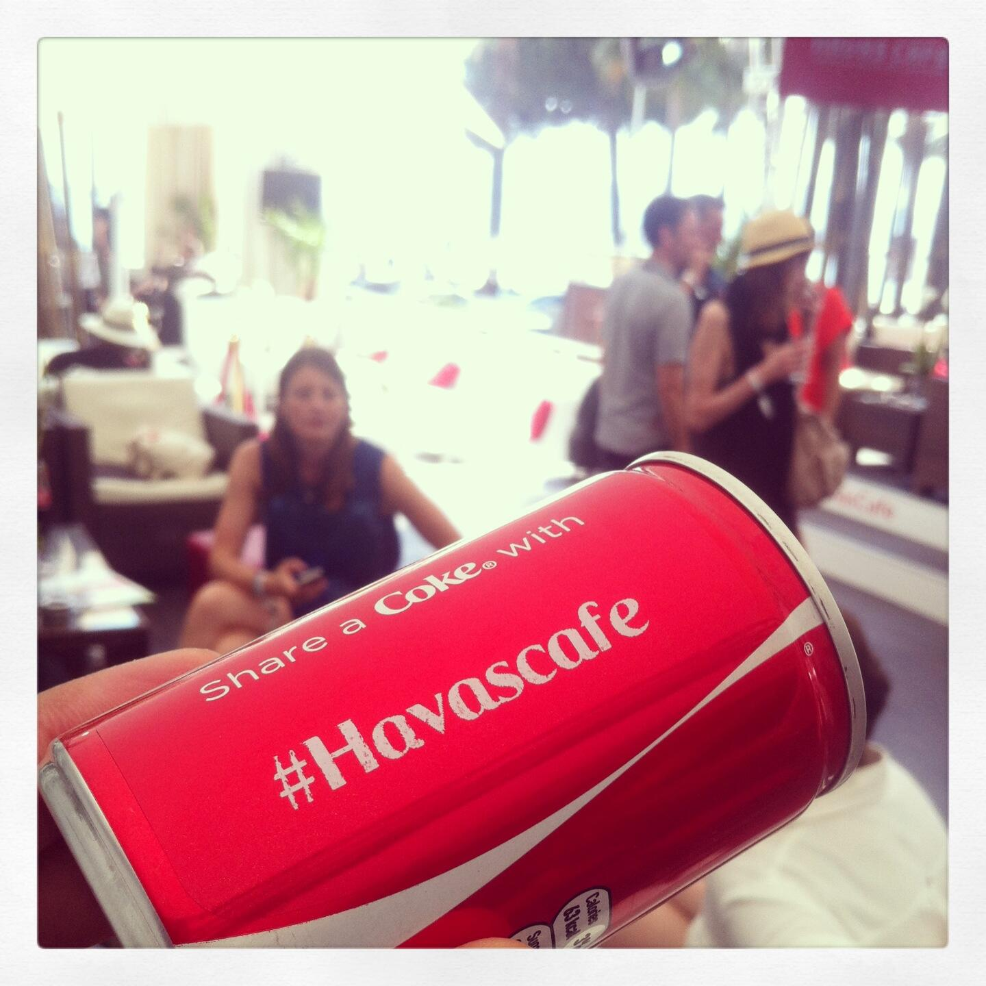 RT @HavasCafe: #ShareaCoke with @CocaCola @Havas_SE & @valycuty at the #HavasCafe #CannesLive #CannesLions http://t.co/JxEP0ywtup
