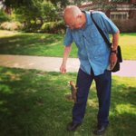 Retired OU biology professor feeds squirrels on campus. After three years, they know & recognize him! @OUsquirrels http://t.co/XDQlUTJcwX