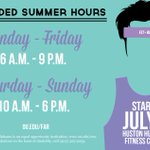 RT @OUFitandRec: Hey #Sooners! Extended Summer Hours at the Huston Huffman Fitness Center starting July 1! --> http://t.co/pJBZh9AUo3