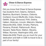 RT @LetsGoEXPRESS: Did you know CDE has students from 36 different towns? #dedication #cheerexpress http://t.co/JCorJrYN7c