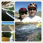 RT @DanMarriesKOLD: Jennifer & I enjoying a nice bike ride along the Santa Cruz River this AM. #cycling #Tucson http://t.co/QZDO5NLJw4