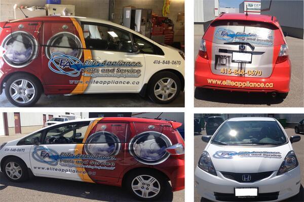 Elite Appliances Car Wrap Installed by Tyler Cook http://t.co/XOfoSGFfGI
