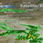 Alright #yxe, we have some showers & non-severe thunderstorms moving into the region right now #skstorm #skytracker http://t.co/MToKBBbUCh