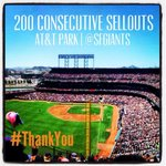 Thank you #SFGiants fans - 200 and counting http://t.co/e4gYu604fq